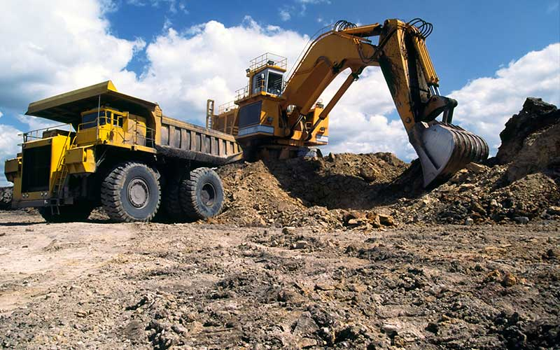 surface-mining-loader-and-truck